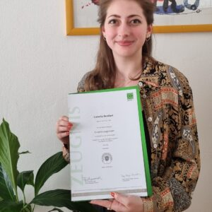 "Cornelia Bernhart – certicifado oficial del curso ""Eventmanagement"" – Junio 2021"